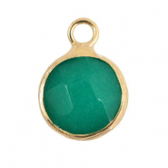 Natural stone charms 10mm Eden Green-Gold