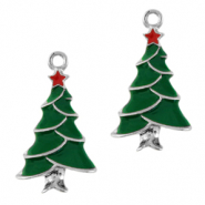 Metal charms christmas tree Silver-Green