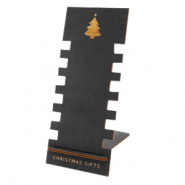 "Jewellery display wood ""Christmas Gifts"" Black"