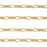 DQ European metal findings belcher chain Gold