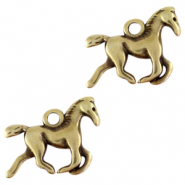 DQ European metal charms horse Antique Bronze (nickel free)