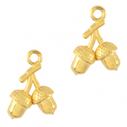 DQ European metal charms acorn Gold (nickel free)