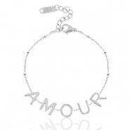 "Stainless steel bracelets ""amour"" Silver"