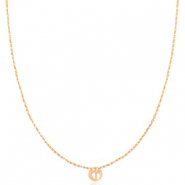 Stainless steel necklaces feet Rosegold