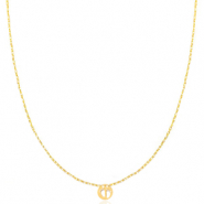 Stainless steel necklaces feet Gold