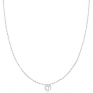 Stainless steel necklaces feet Silver