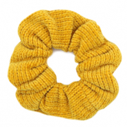 Scrunchie corduroy hair tie Ochre Yellow