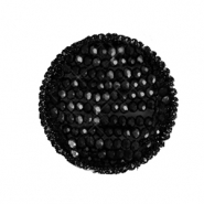 Crochet pendants with faceted beads round Black