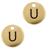 DQ European metal charms initial U Antique Bronze (nickel free)