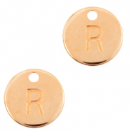 DQ European metal charms initial R Rose Gold (nickel free)