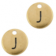 DQ European metal charms initial J Antique Bronze (nickel free)