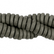 DQ Greek ceramic beads disc 6mm Neutral Grey