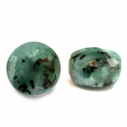 Natural stone beads faceted round 7mm Turquoise Green