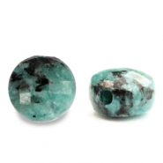 Natural stone beads faceted round 7mm Turquoise Blue