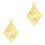 Brass TQ metal charms rhombus Gold