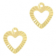 Brass TQ metal charms heart Gold