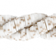 Katsuki beads 4mm White Sand-Brown