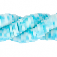 Katsuki beads 6mm Cyan Blue