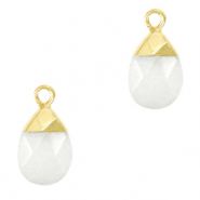 Natural stone charms White-Gold