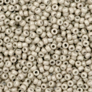 Miyuki seed beads 11/0 Duracoat Galvanized Matte Light Pewter Grey 11-4221F