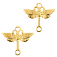 DQ European metal charms connector dragonfly Gold (nickel free)