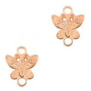 DQ European metal charms connector butterfly Rose Gold (nickel free)