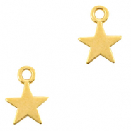 DQ European metal charms star Gold (nickel free)