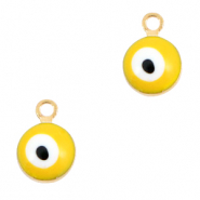 Metal charms 6mm Evil eye Gold-Yellow