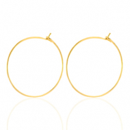 Stainless steel earrings 20mm Gold