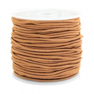 Coloured elastic cord 1.5mm Cognac brown