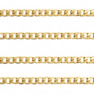 Stainless steel findings belcher chain curb links Gold