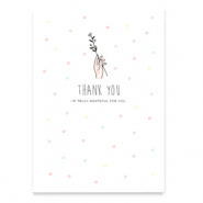"Jewellery cards ""Thank you"" White"