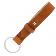 Cuoio keychain 15mm Saddle Brown