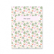 "Jewellery cards ""for you"" Green-Pink"