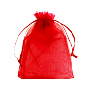 Jewellery Organza Bag 10x13cm Jester Red