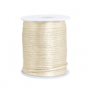 Satin wire 1.5mm Beige White
