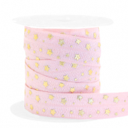 Elastic ribbon stars Light Pink-Gold