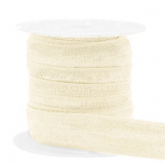 Elastic ribbon Silk White