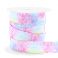 Elastic ribbon mermaid Pink-Blue