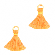 Tassels 1cm Gold-Paradise Orange