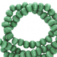 Wooden beads round 8mm Basil Green