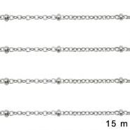 Stainless Steel findings belcher chain 1.4mm Silver