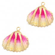 Shell pendant specials Cockles Gold-Vanilla Rose Ombre
