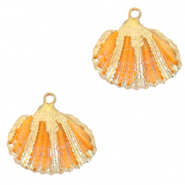 Shell pendant specials Cockles Gold-Nectarine Orange