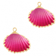 Shell pendant specials Cockles Gold-Pink Ombre