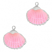 Shell pendant specials Cockles Silver-Rose
