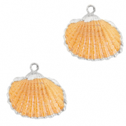 Shell pendant specials Cockles Silver-Nectarine Orange