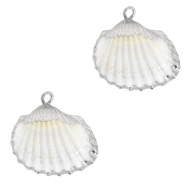 Shell pendant specials Cockles Silver-White