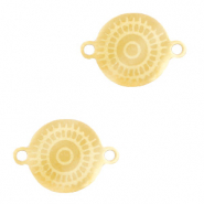 Stainless steel charms/connector mandala Gold