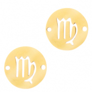 Stainless steel charms/connector zodiac sign Virgo Gold